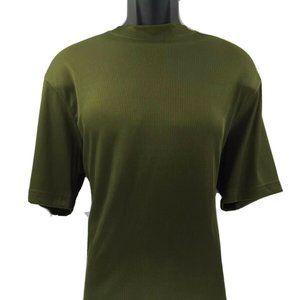 LOG-IN UOMO Men's Green T-shirt Ribbed Pattern